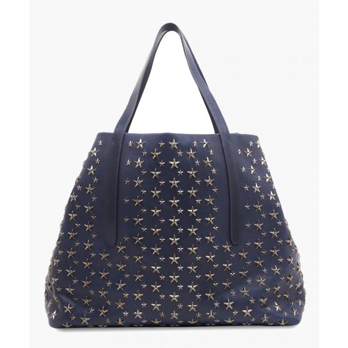 Image for Pimlico blue leather tote