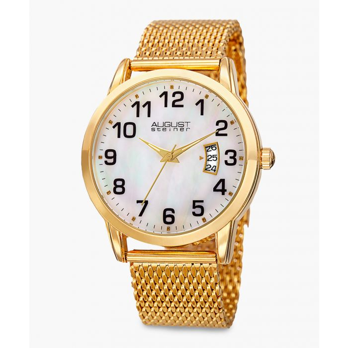 Image for Gold-tone mesh strap watch