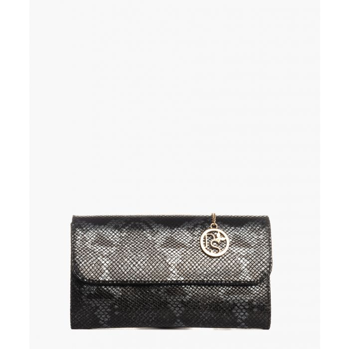 Image for Monte Rosa black leather clutch
