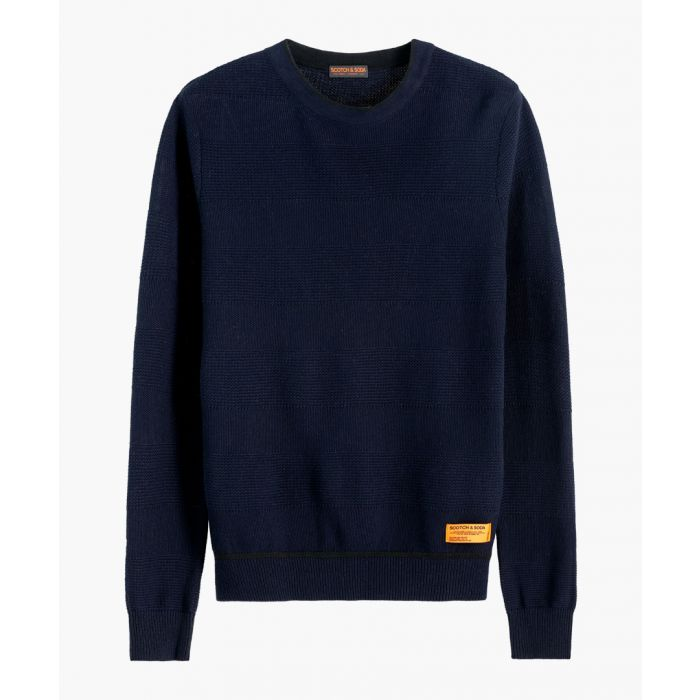 Image for Multi-coloured cotton and wool blend crewneck jumper