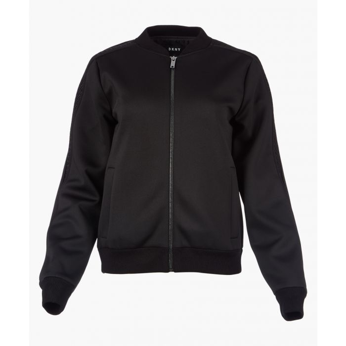 Image for Black long sleeve bomber jacket