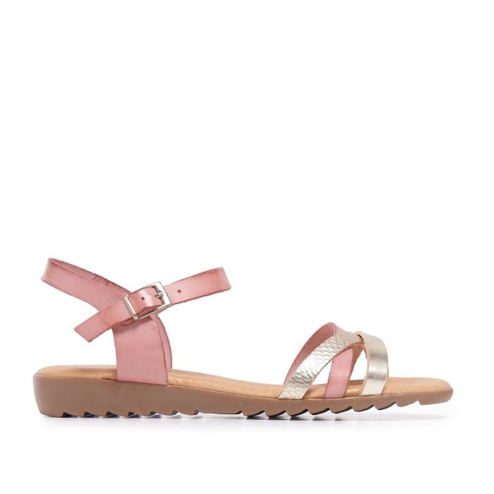 Image for Pink Leather Sandals Flip Flop Women Eva Lopez