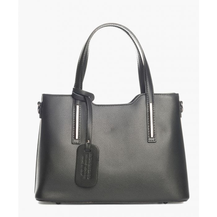 Image for Lambro black leather shopper