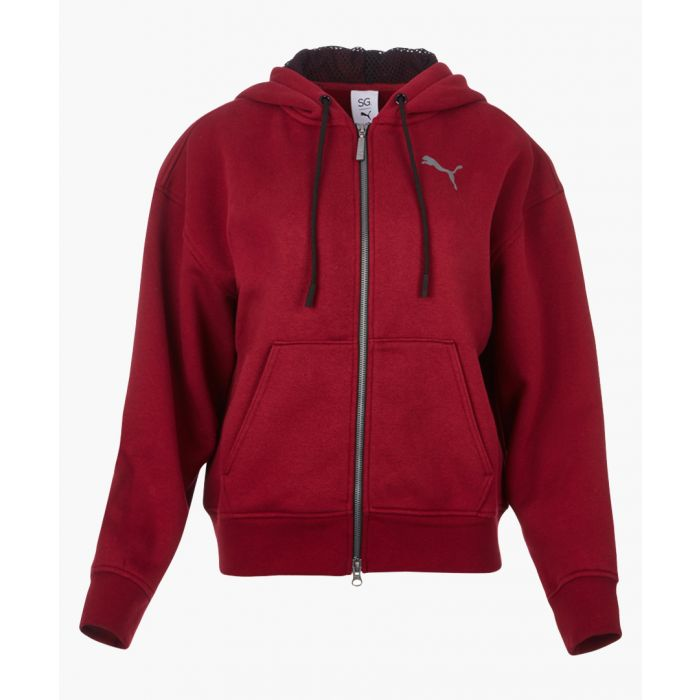 Image for x SG FZ red cotton stretch hoodie