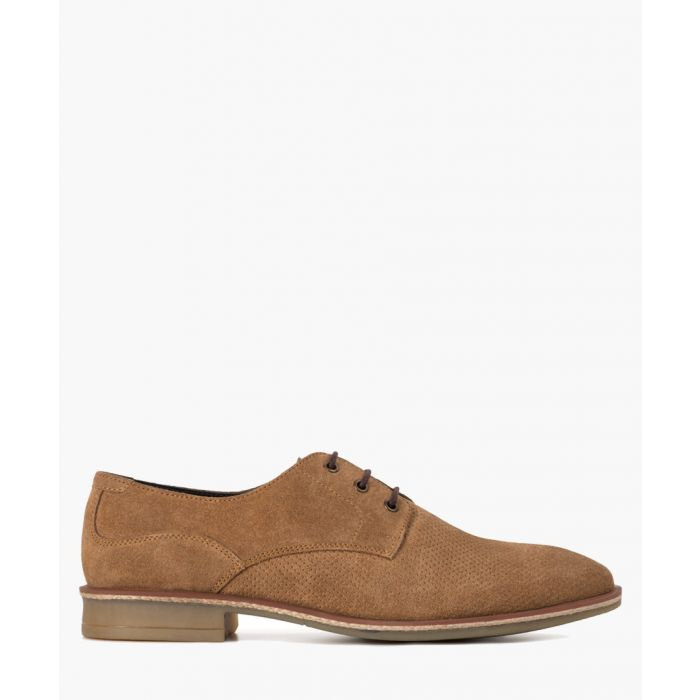 Image for Clarke chestnut suede Derby shoes