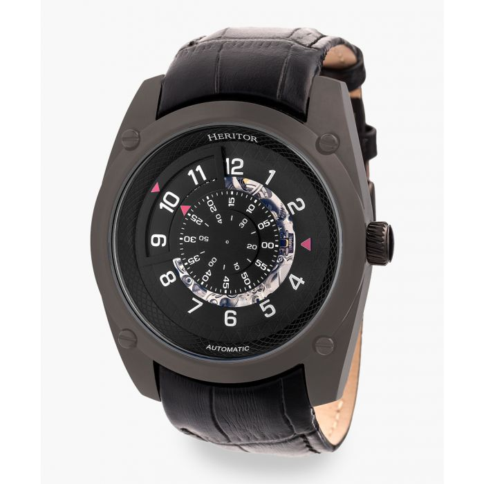Image for Daniels black leather and stainless steel watch