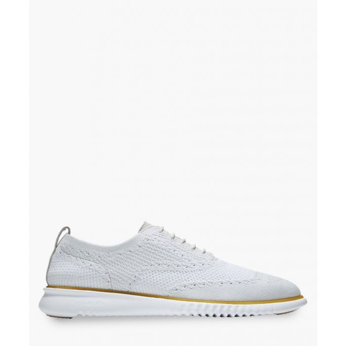 Image for Mens light grey knit Oxford shoes