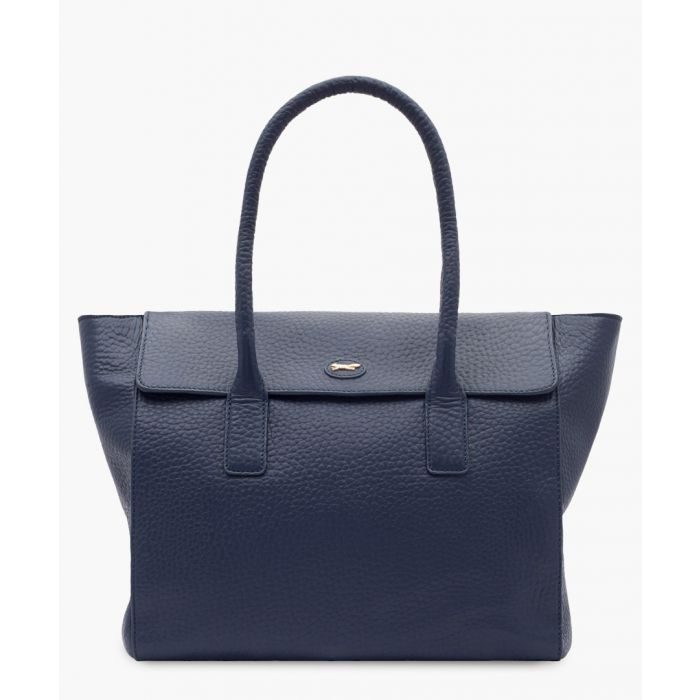 Image for Universe blue leather shopper