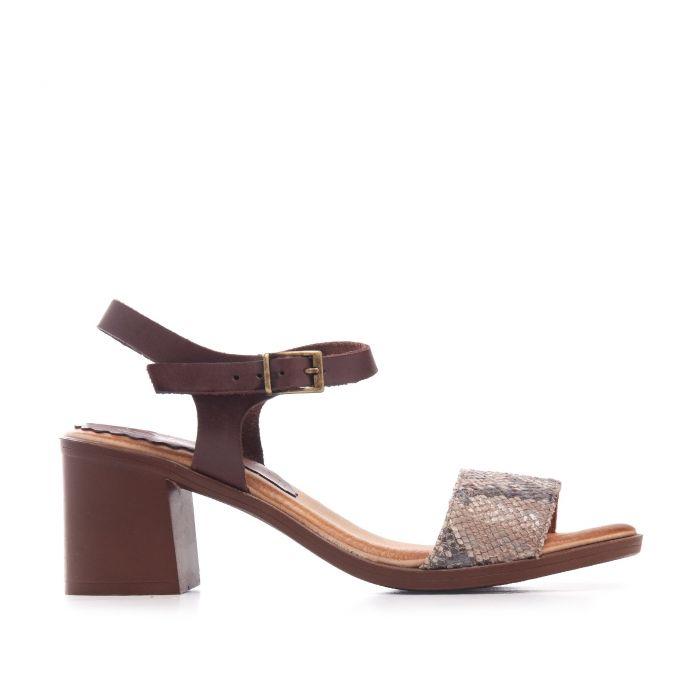 Image for Leather Peep Toe Sandals Women Ladies Eva López