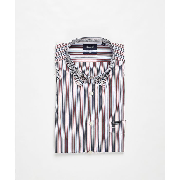 Image for Multi-coloured striped button-down shirt