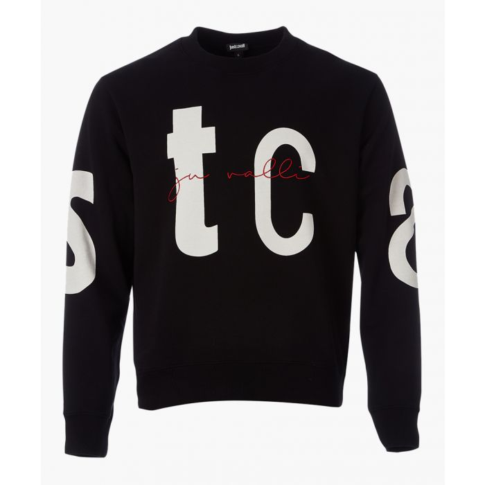 Image for Black typography print sweatshirt