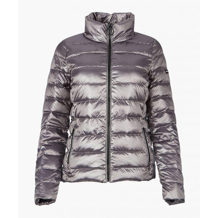 Image for Metallic granite down jacket