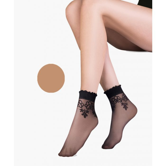 Image for Bea beige ankle socks 20 denier