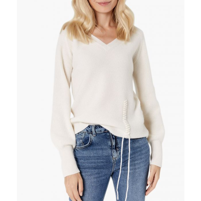 Image for Ecru pure cashmere jumper