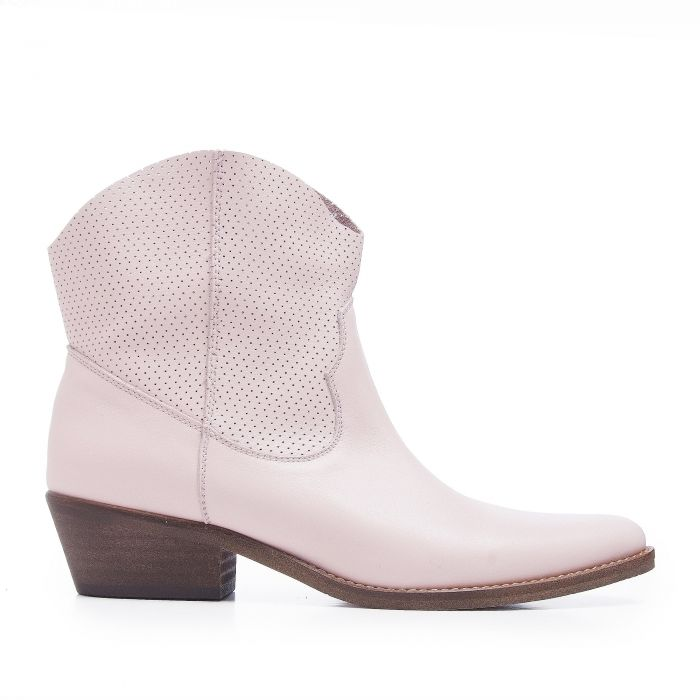Image for Womens pink leather cowboy boots
