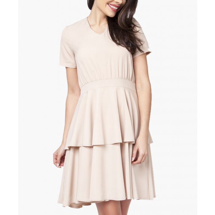 Image for Beige woven dress
