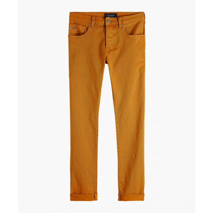 Image for Burned orange clean dyed trousers