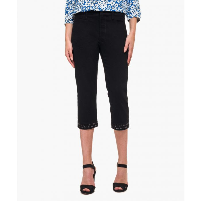 Image for Marilyn straight crop black jeans