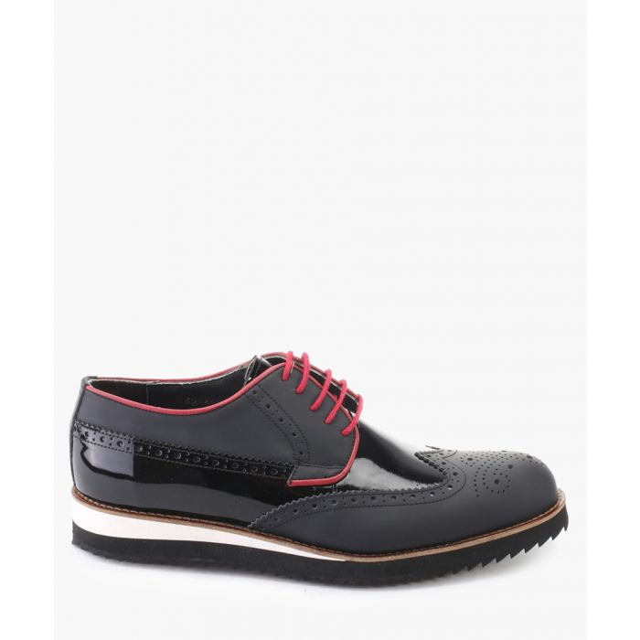 Image for Black leather brogue shoes