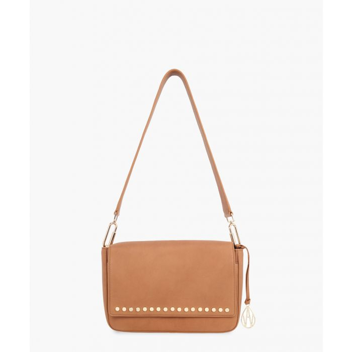 Image for Carter tan leather shoulder bag