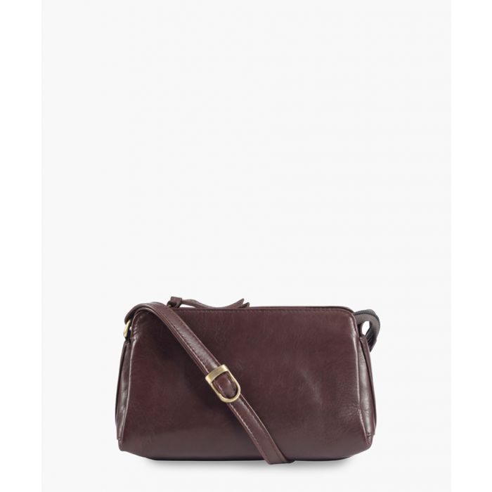 Image for Brown leather mini crossbody