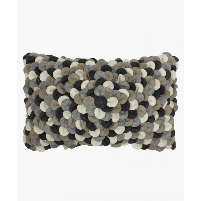 Image for Petals grey textured cushion