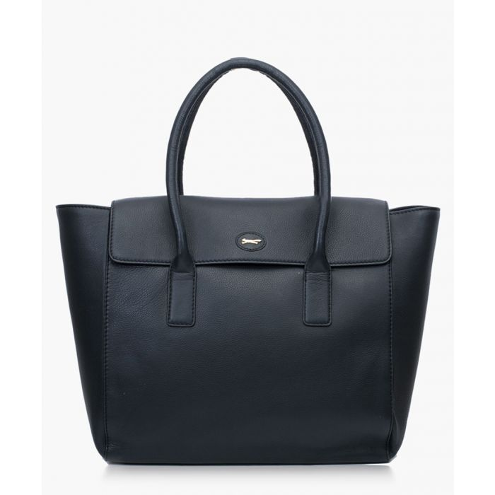 Image for Universe black leather shopper