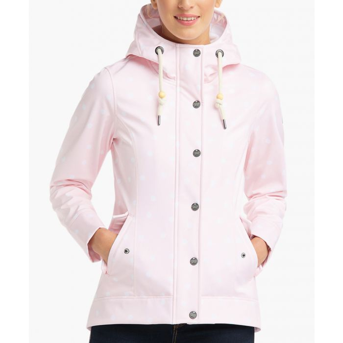 Image for Pink dot print anorak