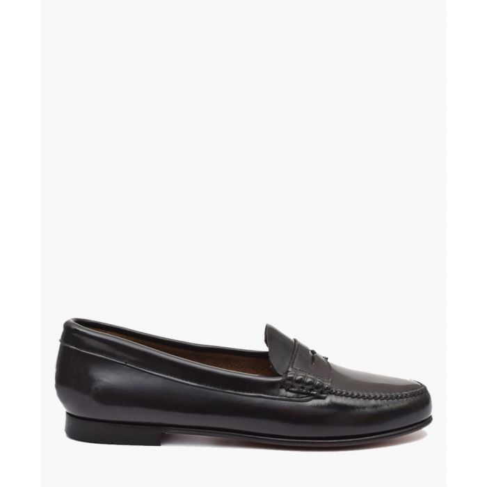 Image for Women's Black leather loafers