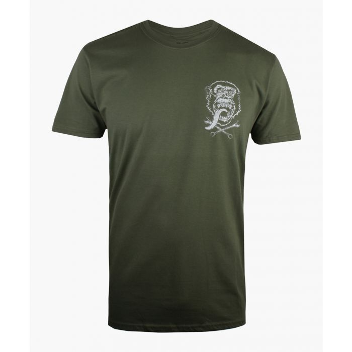 Image for Petrol Heads GAS MONKEY - GMG EMBLEM - MENS T - MILITARY GREEN