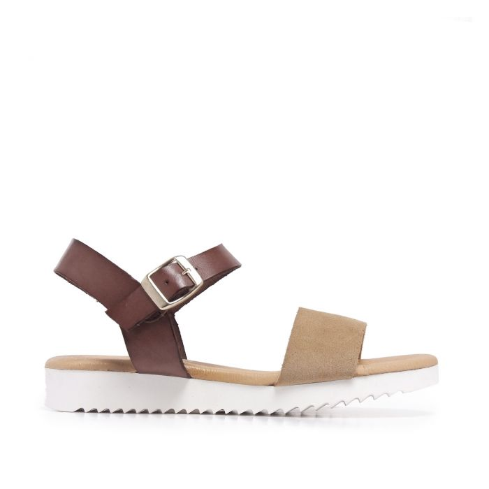 Image for Leather Beige Sandals Flip Flop Women Maria Barcelo