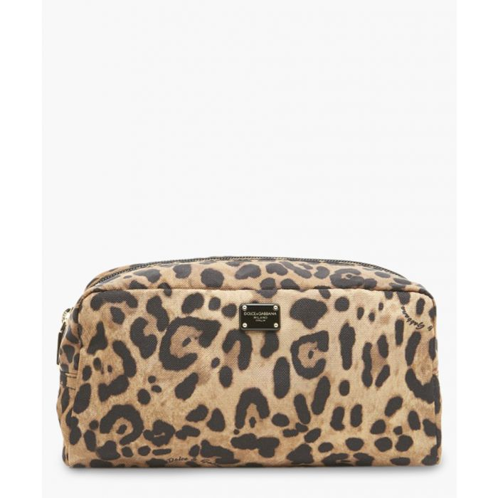 Image for Multi-coloured leopard print makeup bag