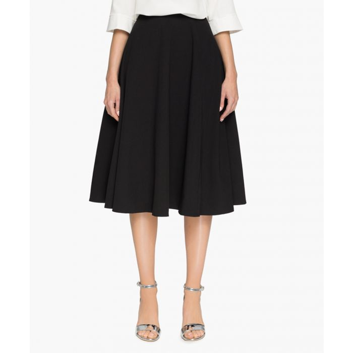 Image for Black midi skirt