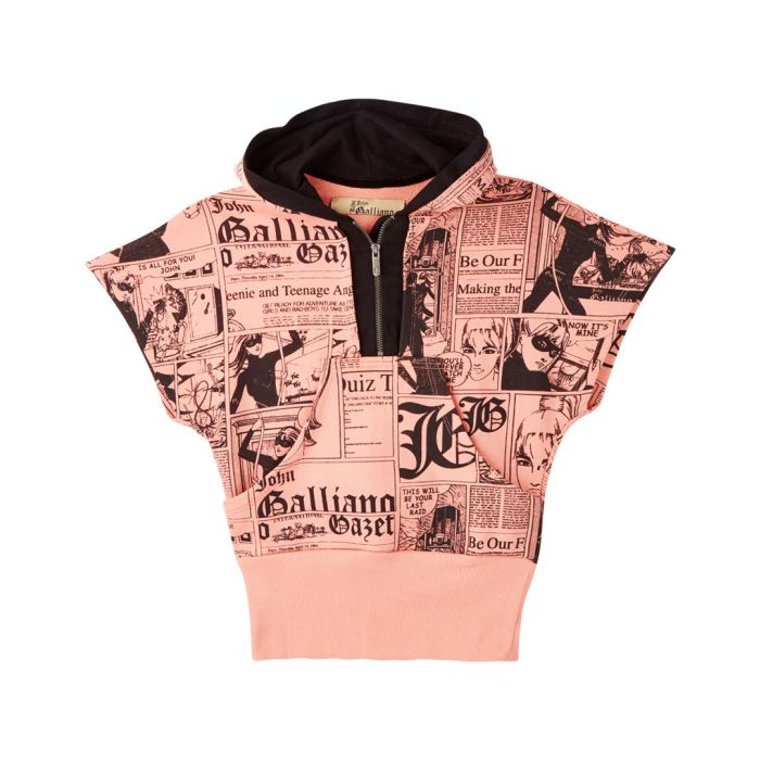 Image for 4-8yrs girl's comic print hoodie