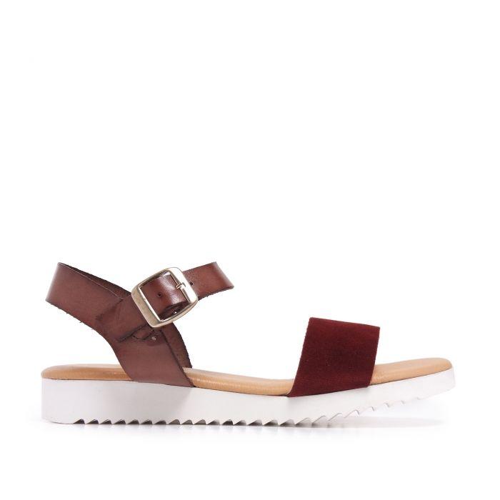 Image for Leather Bordeaux Sandals Flip Flop Women Maria Barcelo