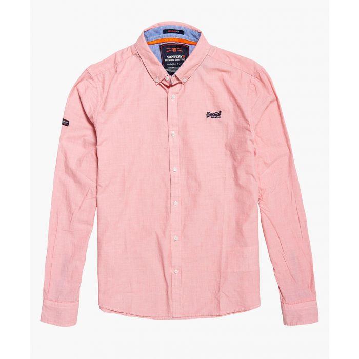 Image for Premium coral pure cotton button-up shirt