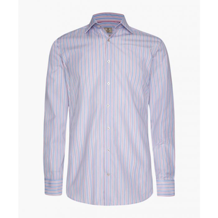 Image for Mayfair blue and white cotton stripe shirt
