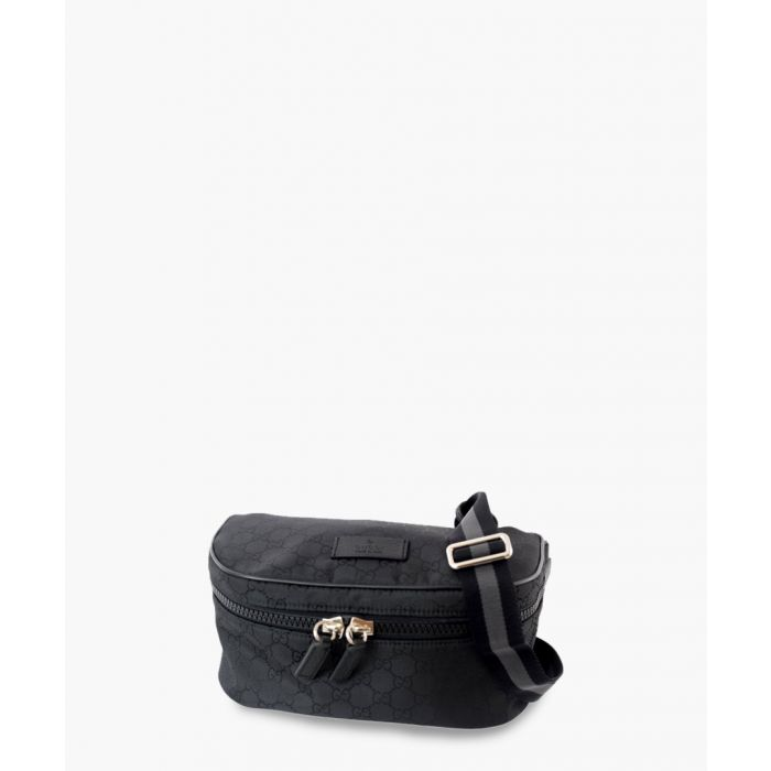 Image for Black nylon GG print belt bag