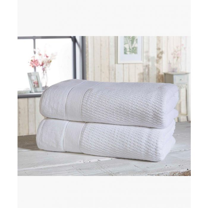 Image for 2pc white cotton towels
