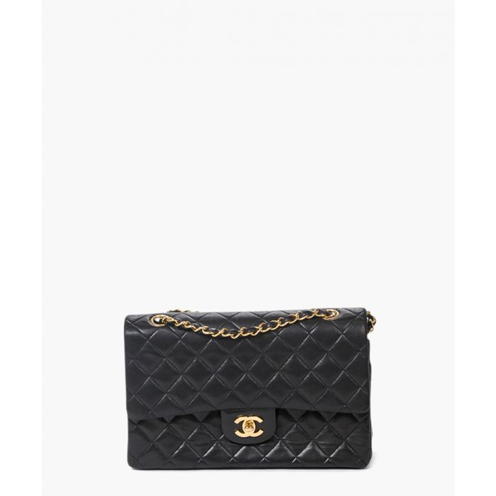 Image for Vintage Classic Double Flap black bag
