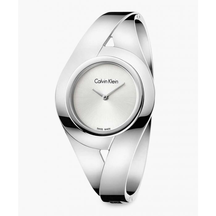 Image for Silver-plated and white watch