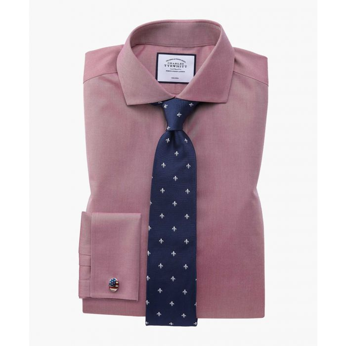 Image for Red twill non-iron cutaway collar slim fit shirt