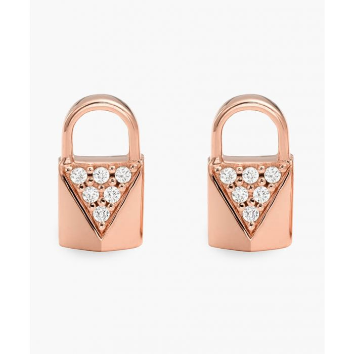Image for Rose gold-plated earrings