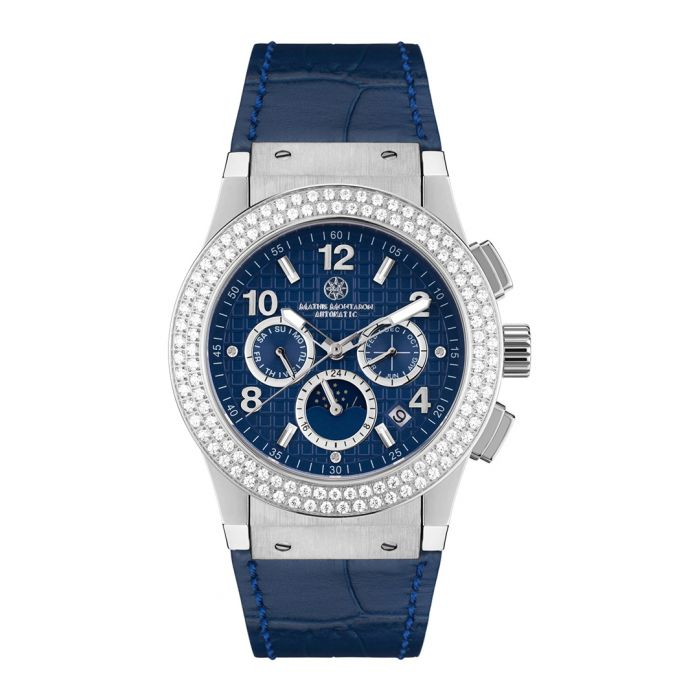 Image for Noblesse Lady blue leather watch