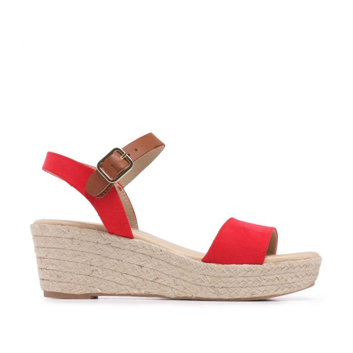 Image for Ankle Strap Red Sandals Summer Women María Barceló