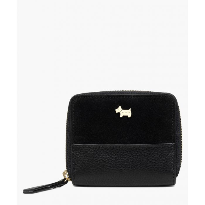 Image for Black medium zip-around purse
