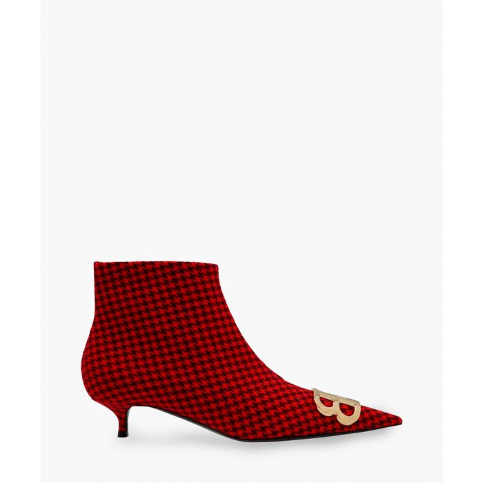 Image for Knife BB red houndstooth ankle boots