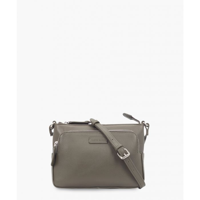 Image for Olive green leather crossbody