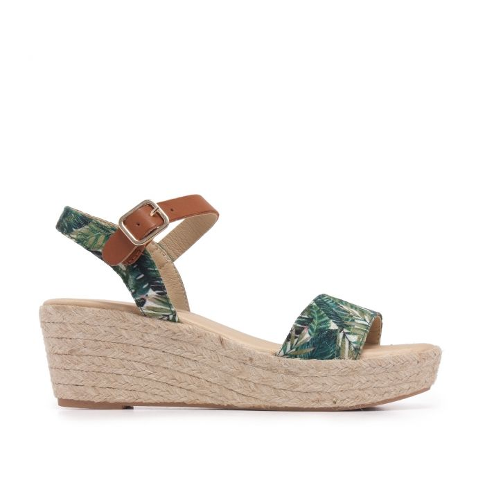 Image for Ankle Strap Green Sandals Summer Women María Barceló