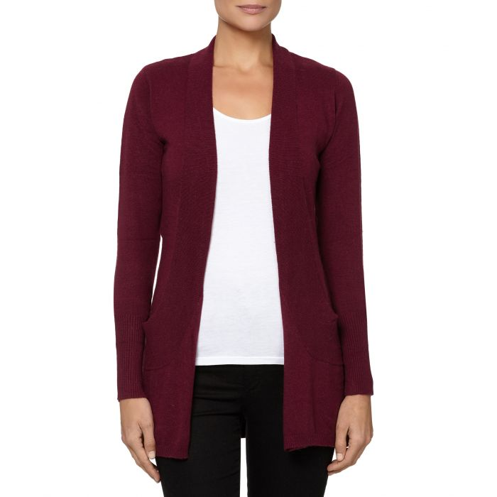 Image for Bordeaux cashmere blend open cardigan